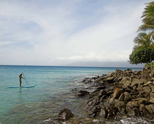 Learn to SUP with Maui Surf Lessons