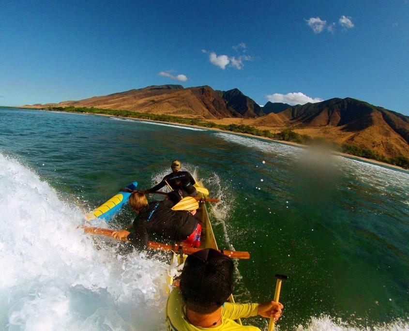Ukumehame Canoe Surf Wave Splash