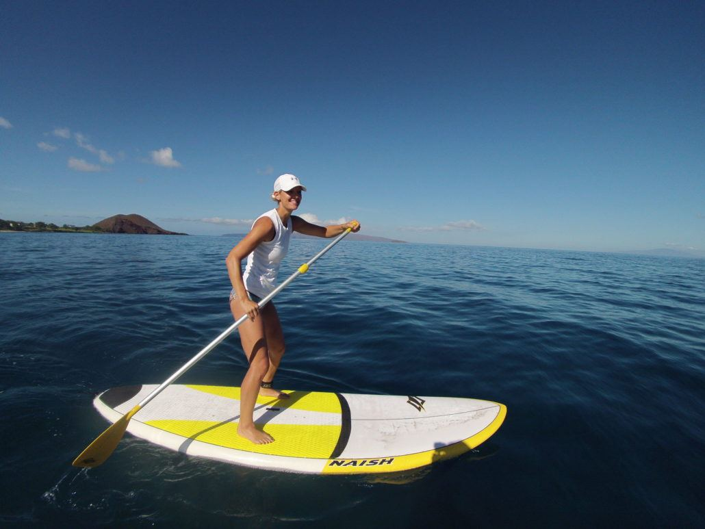 Maui Stand Up Paddling Forward Momentum
